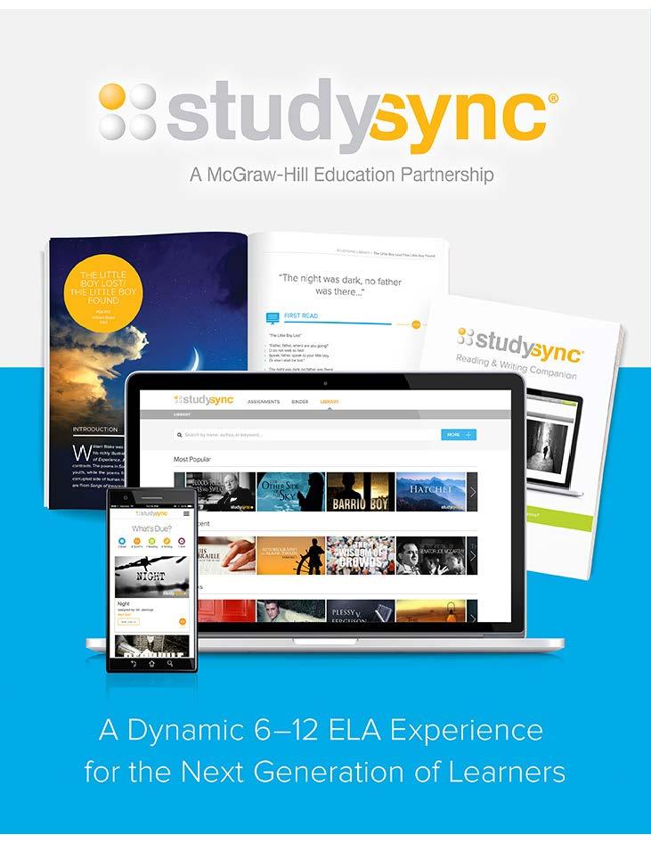 StudySync (2017) - Sixth Grade Report